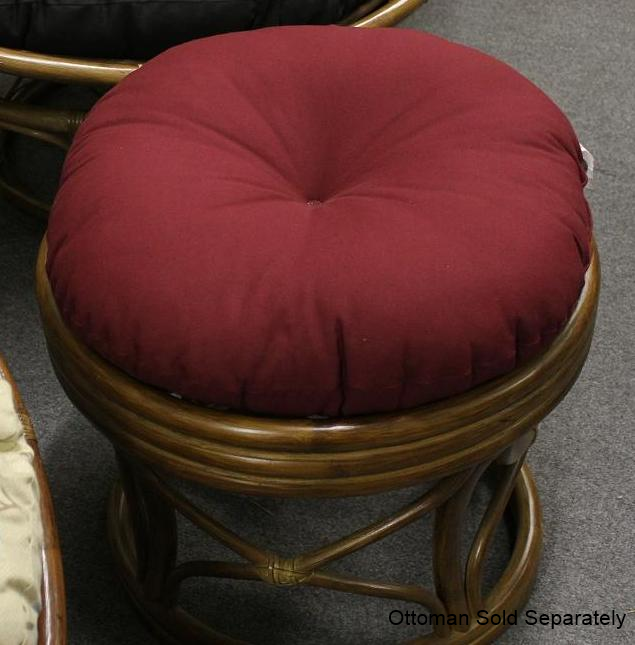 Round Cushion Chair Ottoman 18 Quot All About Wicker