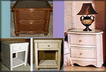 Wicker Nightstands & Accessories