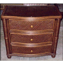Bombay Rattan Wicker 3 Drawer Chest