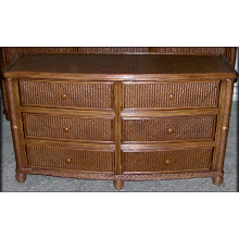 Bombay Rattan Wicker 6 Drawer Dresser