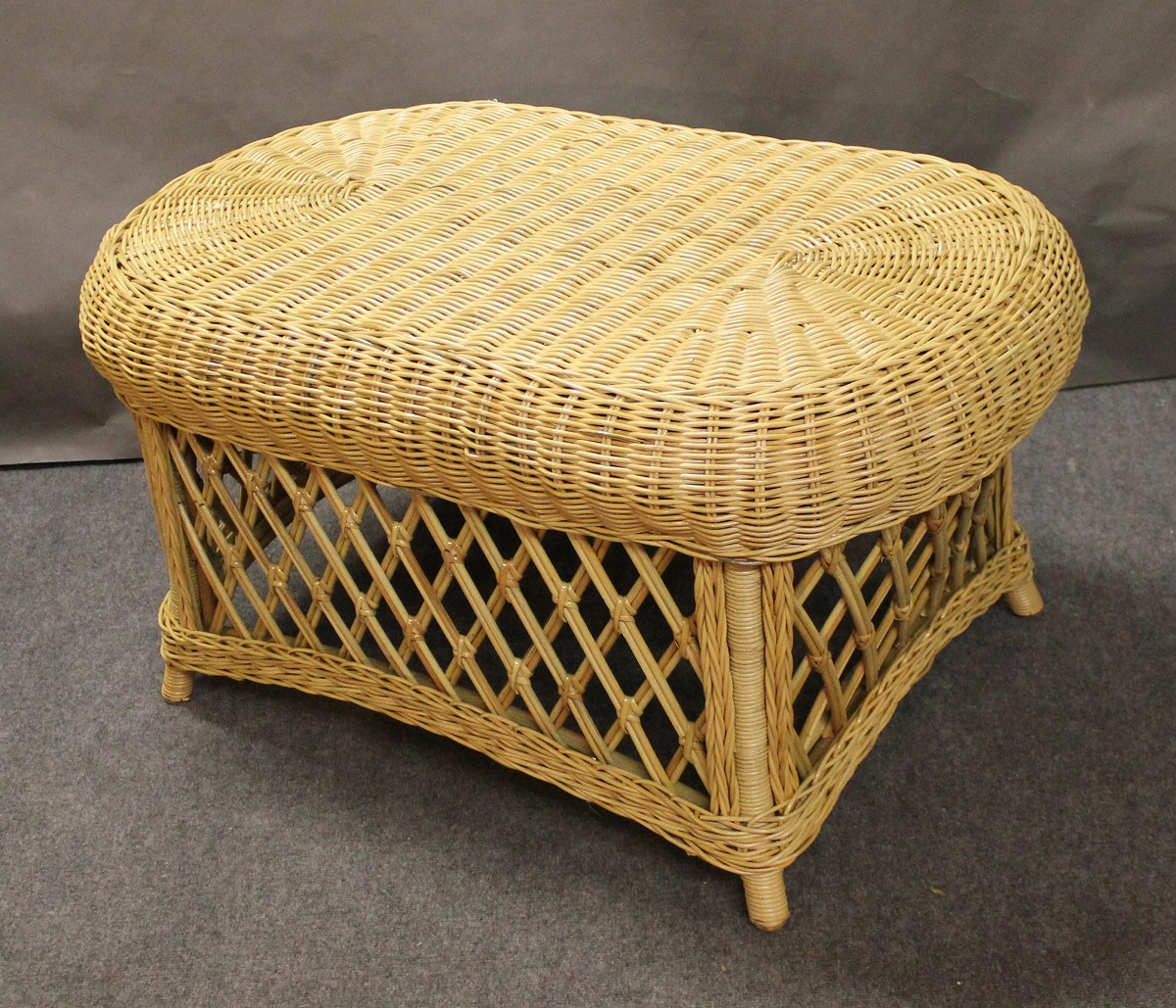 Used White Wicker Coffee Table