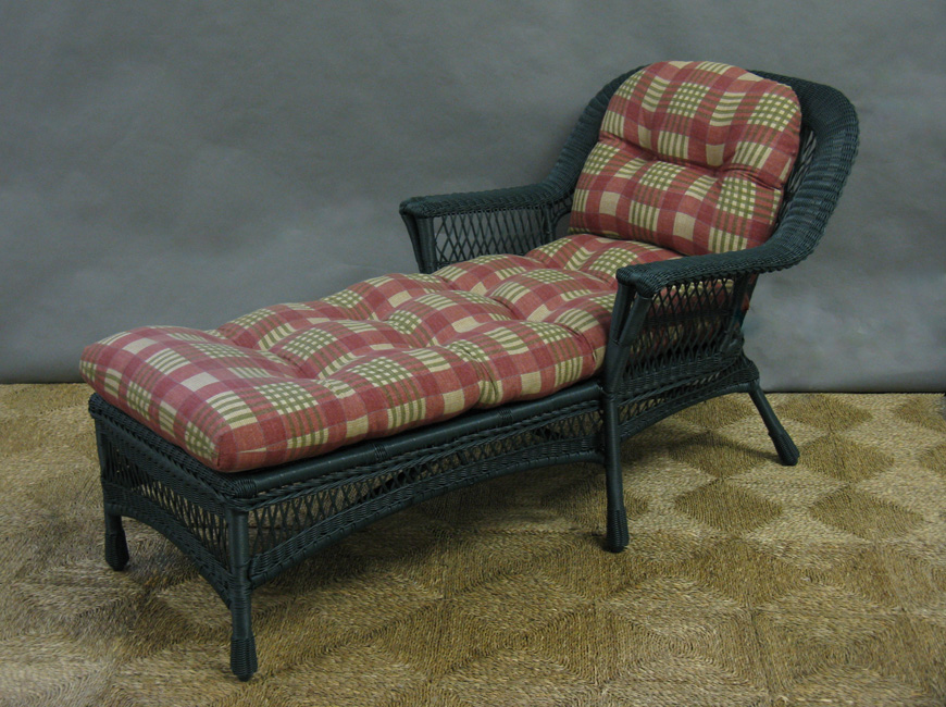 chaise lounge cushion set all about wicker. Black Bedroom Furniture Sets. Home Design Ideas