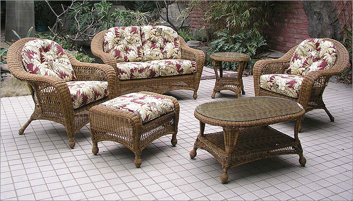 Nice Charleston 6 Piece Outdoor Wicker Furniture Set 1