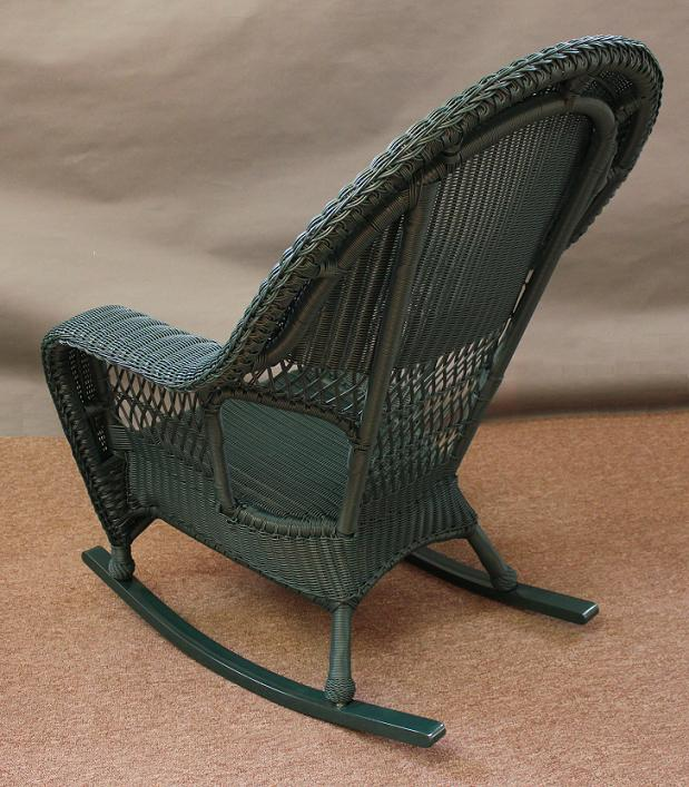 Kingston Outdoor High Back Wicker Rocker All About Wicker