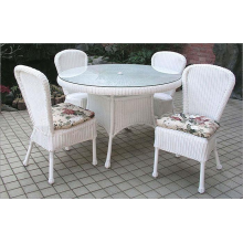 Outdoor Wicker 5 Piece Bistro Dining Set