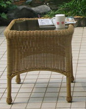 Summerset All Weather Outdoor Wicker End Table