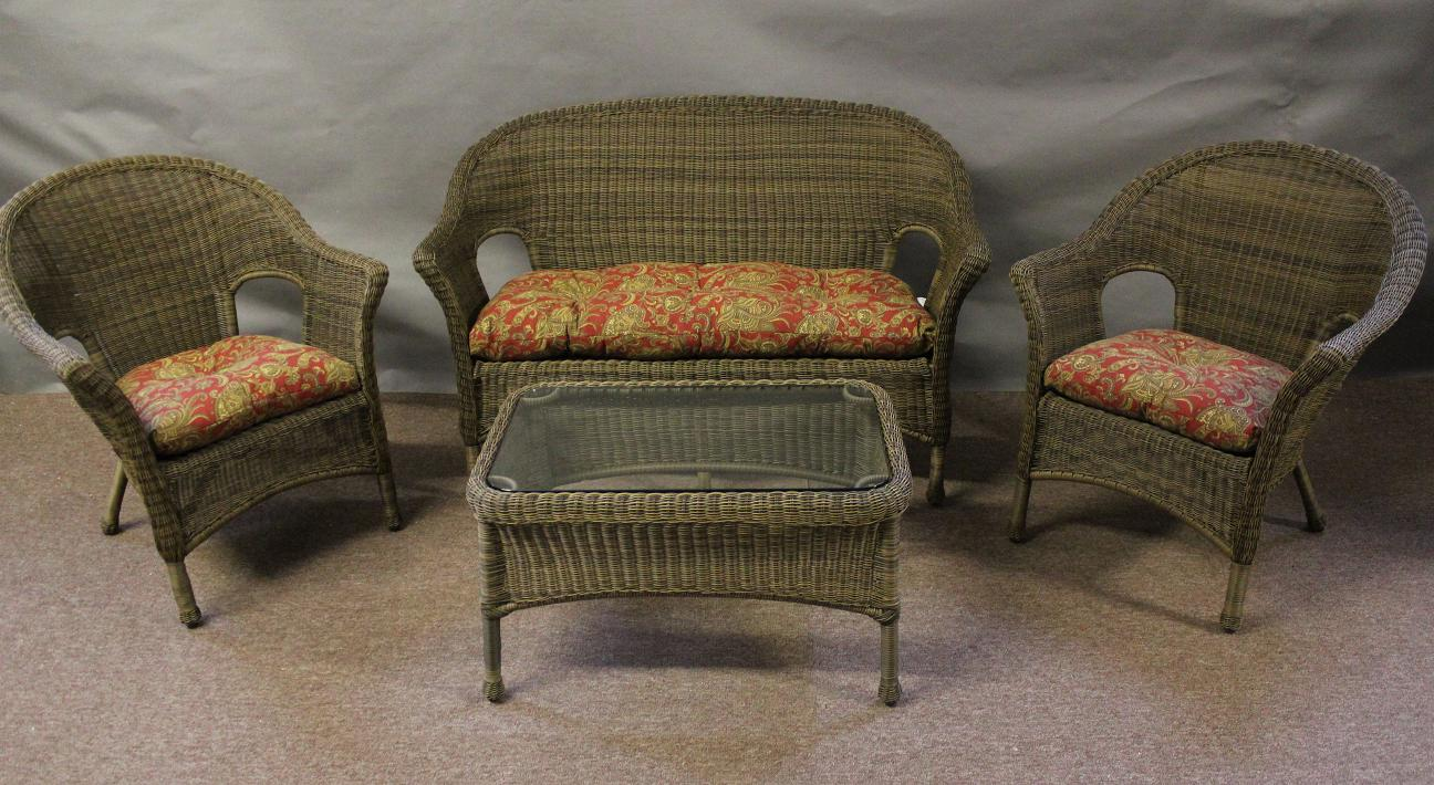 Summerset 4 Piece Wicker Seating Set