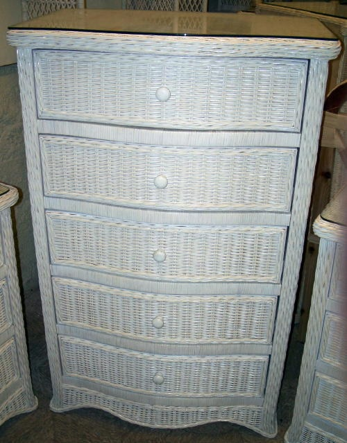 Florentine drawer wicker chest of drawers dresser all