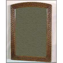 Florentine Wicker Framed Mirror