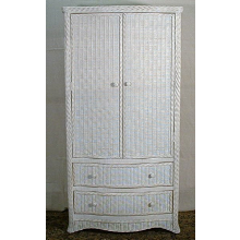 Florentine Wicker Wardrobe