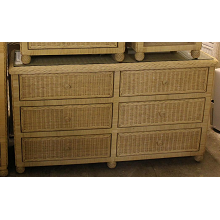 Hampton Bay Wicker Dresser 6 Drawer Double