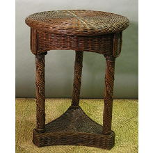Hampton Bay Round Wicker End Table / Nightstand
