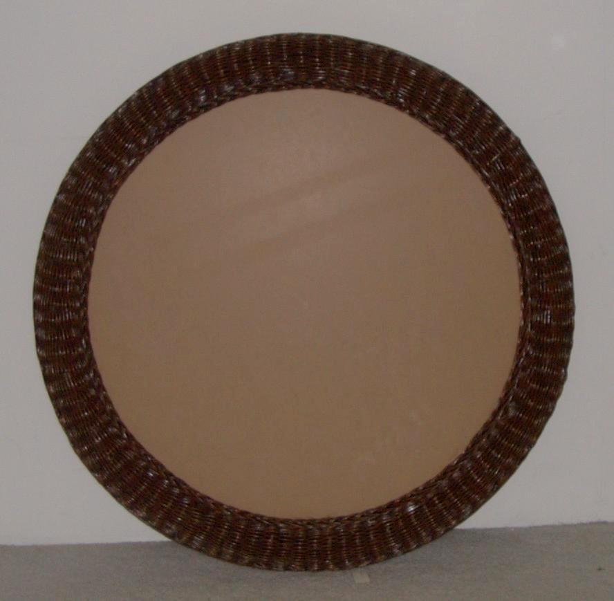 36 Inch Round Mirror Part - 22: ... 36 Inch Round Wicker Framed Mirror 3