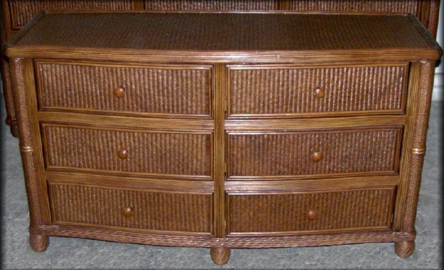 Bombay Rattan Wicker 6 Drawer Dresser All About Wicker