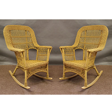 Mackinac All Weather High Back Wicker Rockers - Set of 2