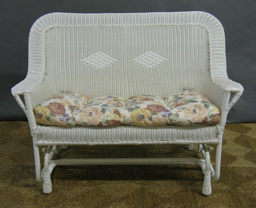 Manchester Outdoor Wicker Double Glider Loveseat Settee All About Wicker Wicker Furniture And