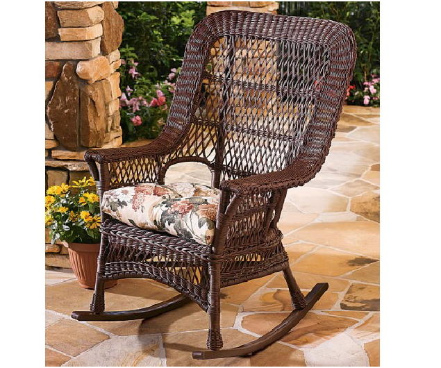 Manchester All Weather High Back Wicker Rockers Set Of 2 P 37 on rattan rocking chair replacement cushions