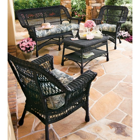 All Weather Manchester 4 Piece Wicker Seating Set All About Wicker Wicker Furniture And