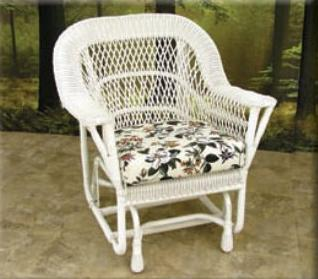 Mackinac Outdoor All Weather Wicker Single Glider