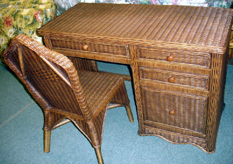 Majestic wicker desk and chair set all about wicker wicker furniture and replacement cushions