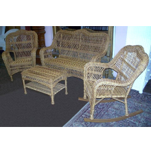 Nantucket 4 Piece Wicker Seating Set with Rocker