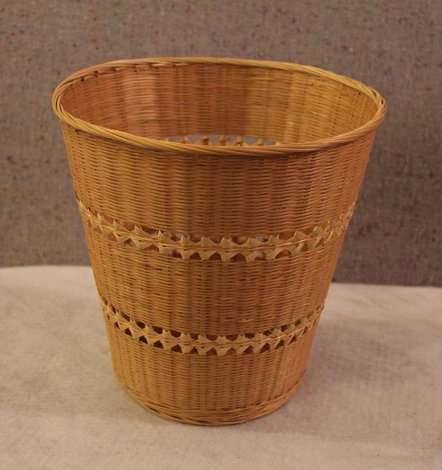 Small Round Natural Wicker Waste Basket