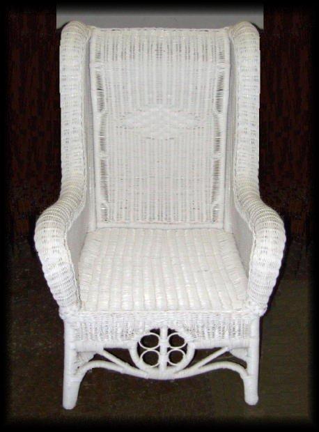 Ralph Lauren High Back Wicker Wing Chair All About Wicker