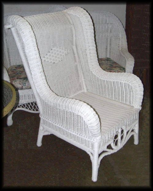Outdoor wicker rocking chair - High Back Wicker Chair Ralph Lauren High Back Wicker