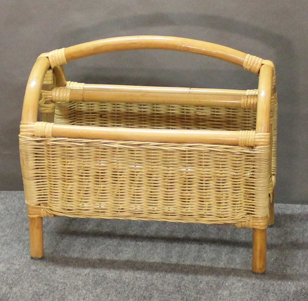 Rattan and Wicker Magazine Rack