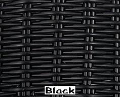 Black Wicker Resin