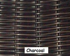 Charcoal Wicker Resin