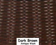 Dark Brown Wicker Resin