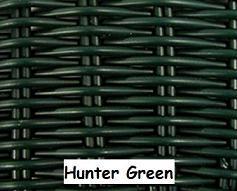Hunter Green Wicker Resin