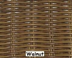 Walnut Wicker Resin