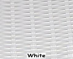 White Wicker Resin