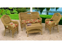 Savannah 4 Piece Wicker Furniture Set