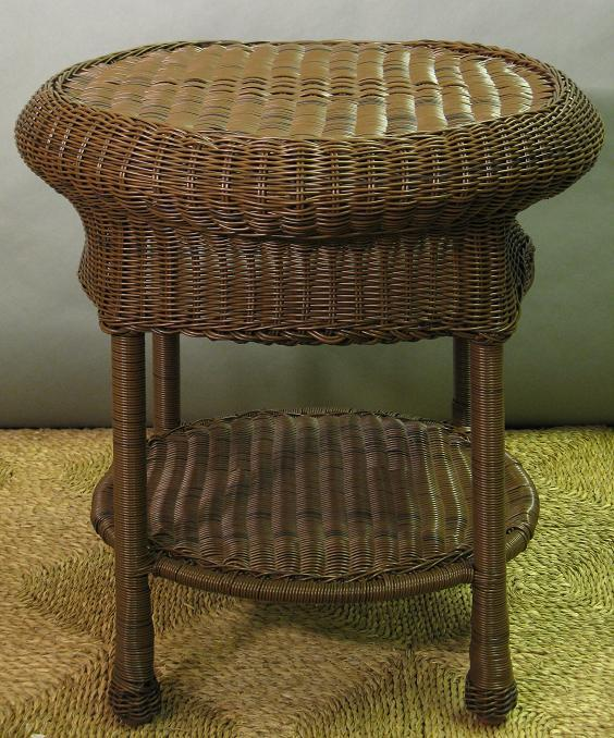 Savannah Round Outdoor Wicker End Table