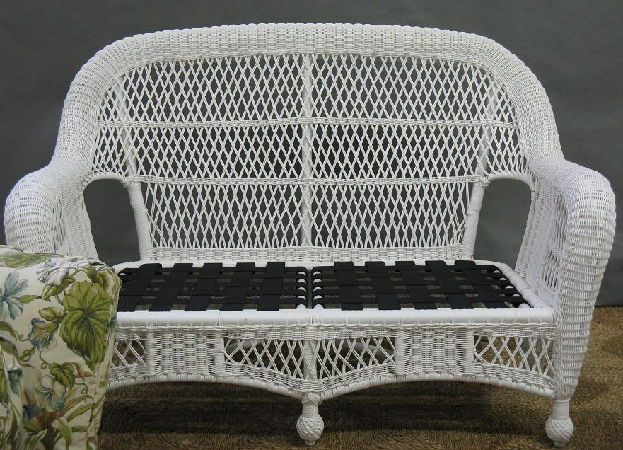 St Lucia Outdoor Wicker Loveseat All About Wicker Wicker Furniture And Replacement Cushions