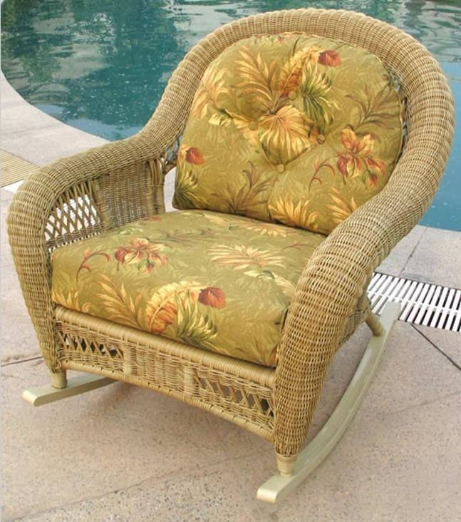 St Lucia Deep Seating Outdoor Wicker Rocker All About Wicker Wicker Furnitu