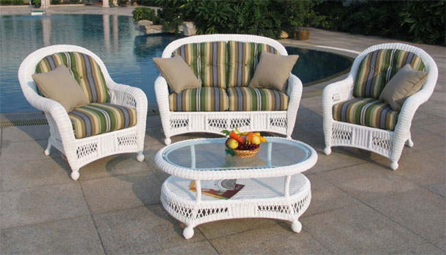 St Lucia 4 Piece Outdoor Wicker Furniture Set All About