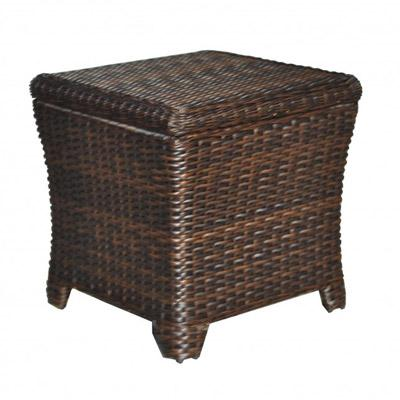 Tisdale Outdoor Wicker Storage End Table