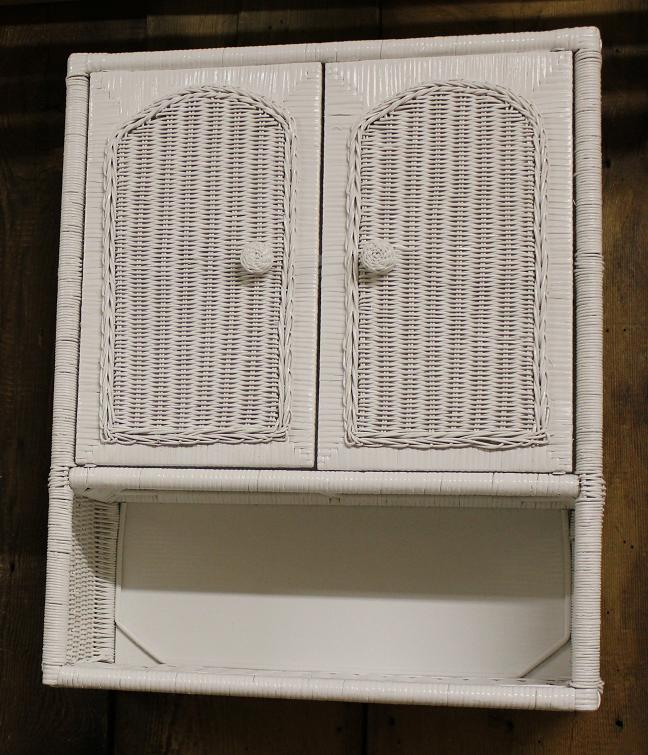 2 Door Wall Cabinet with Bottom Shelf