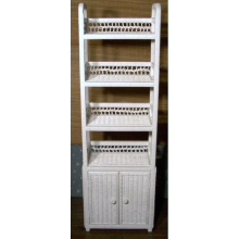 5 Foot Wicker Shelf with Doors