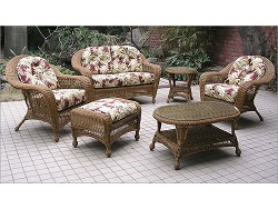 Charleston 6 Piece Outdoor Wicker Furniture Set