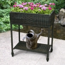All-weather Outdoor Wicker Planter