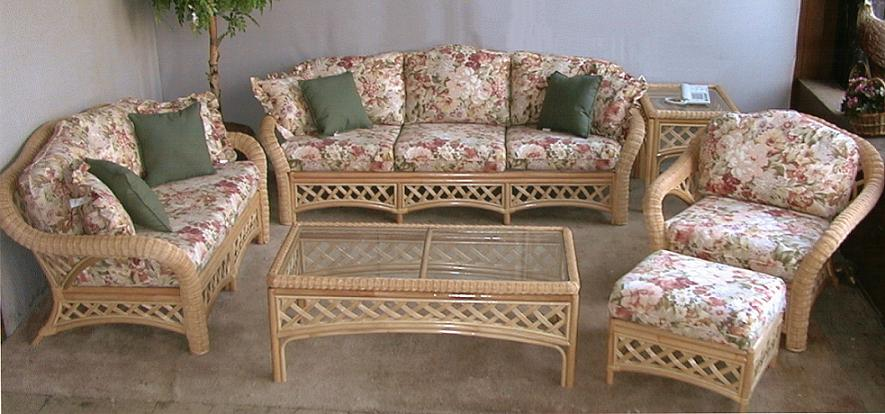 Grand Cayman Rattan and Wicker Seating Set