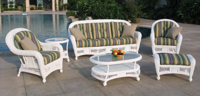 St Lucia 6 Piece Outdoor Wicker Sofa Set