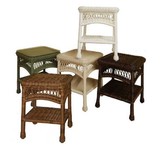 Sanibel Outdoor Wicker End Table