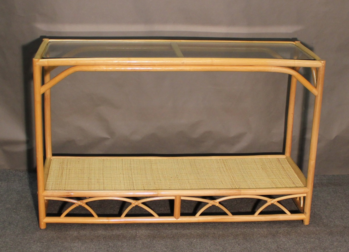 Aruba Rattan Console Sofa Table