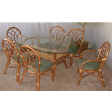 Aruba Rattan 7 Piece Dining Set